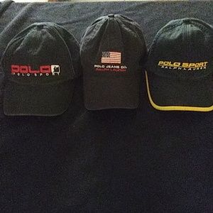 Polo by Ralph Lauren ball hats. Sz. OS